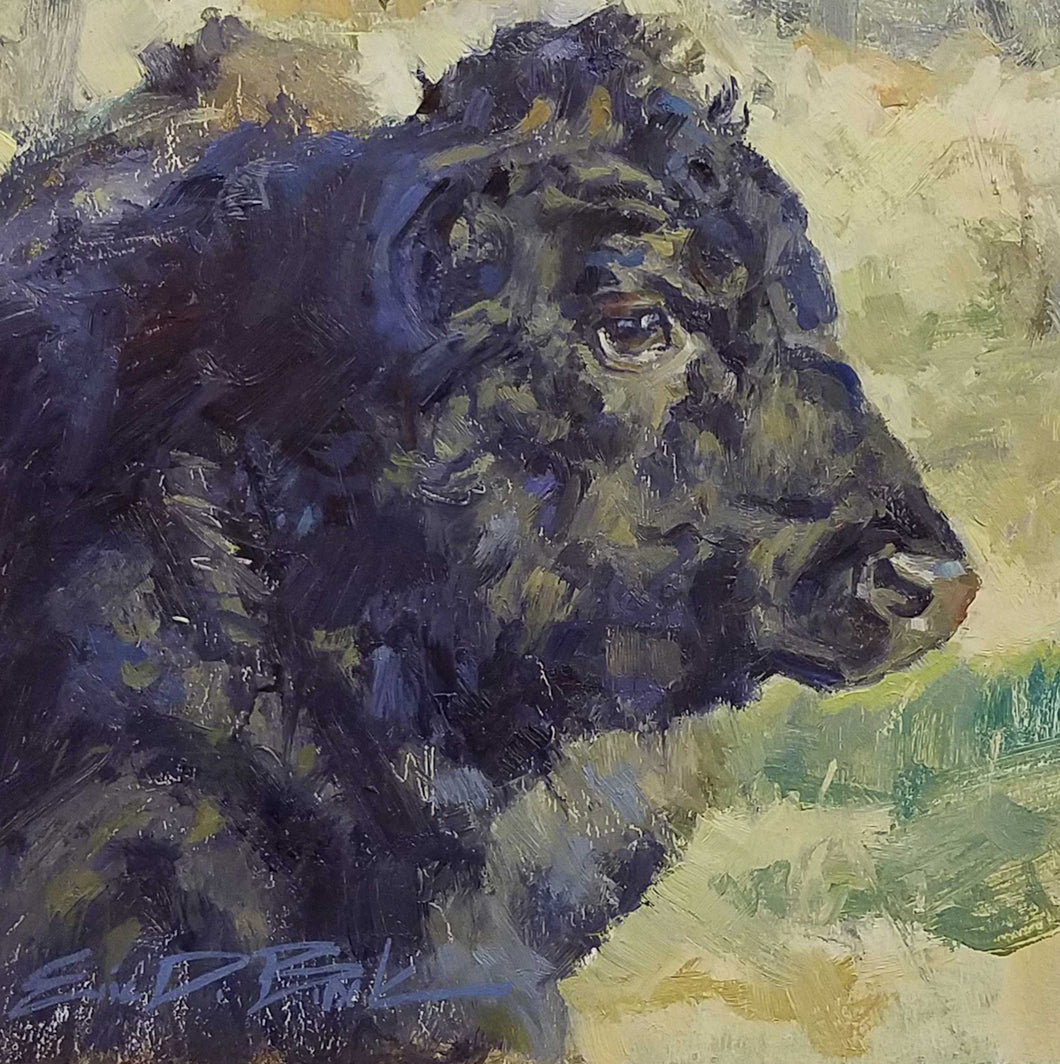 Young Heifer Oil Painting by Eric Brock