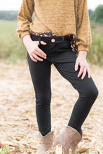 Load image into Gallery viewer, Girl's Black Skinny Pants