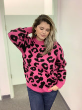 Load image into Gallery viewer, Fuschia Leopard Sweater