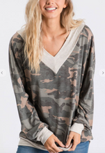 Load image into Gallery viewer, Camoflauge Vneck Top