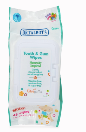 Nuby All Natural Baby Tooth and Gum Wipes (48ct