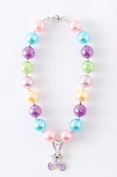 Bunny Rainbow Chunky Necklace