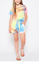 Load image into Gallery viewer, Annie Tie Dye Waffle Romper