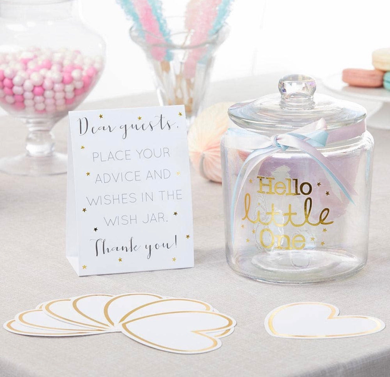 iridescent baby wish jar