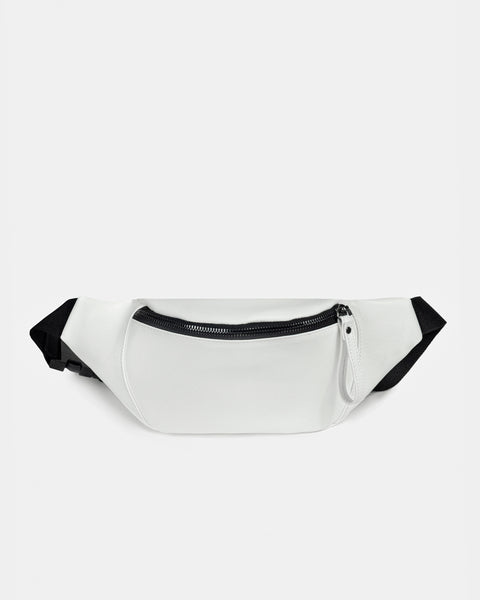 BUM BAG - White - vegan silicone leather