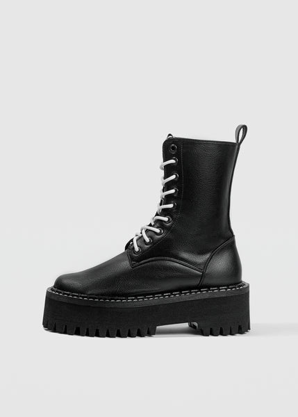 MONSTER Worker Boots - Black -  Desserto® vegan cactus leather