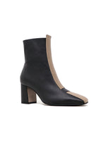 Jayne - Black/Taupe Apple Leather