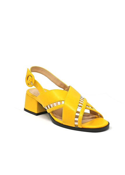 Simone - Lemon/White Vegan Nappa