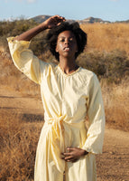 Botanical Camella Top - Natural Dye - Mellow Yellow