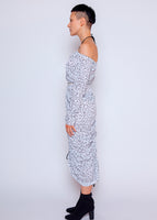 Camilla Dress - Splash Dot - White