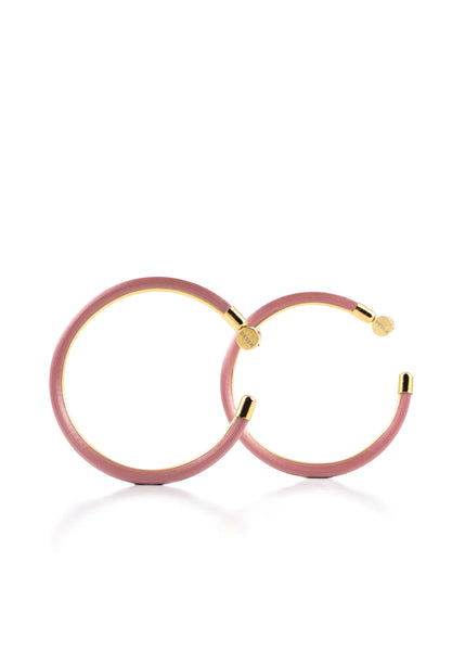 Grand Hoop Earrings - Frozen Pink