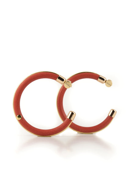 Grand Hoop Earrings - Sweet Cinnamon