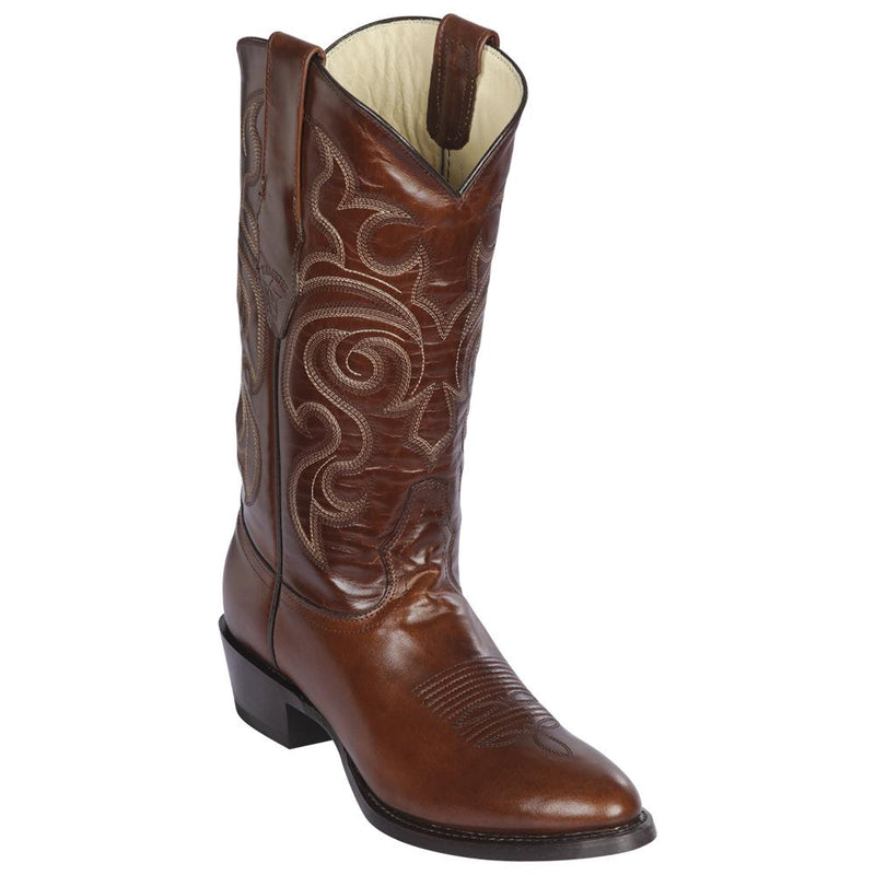 Los Altos Boots Mens #653807 Round Toe | Genuine Pull Up Leather Boots | Color Brown