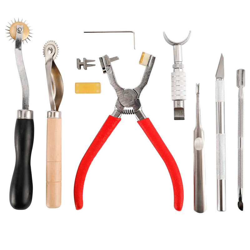 273 Pcs Leather Kit, Leather Working Tools with Cutting Mat