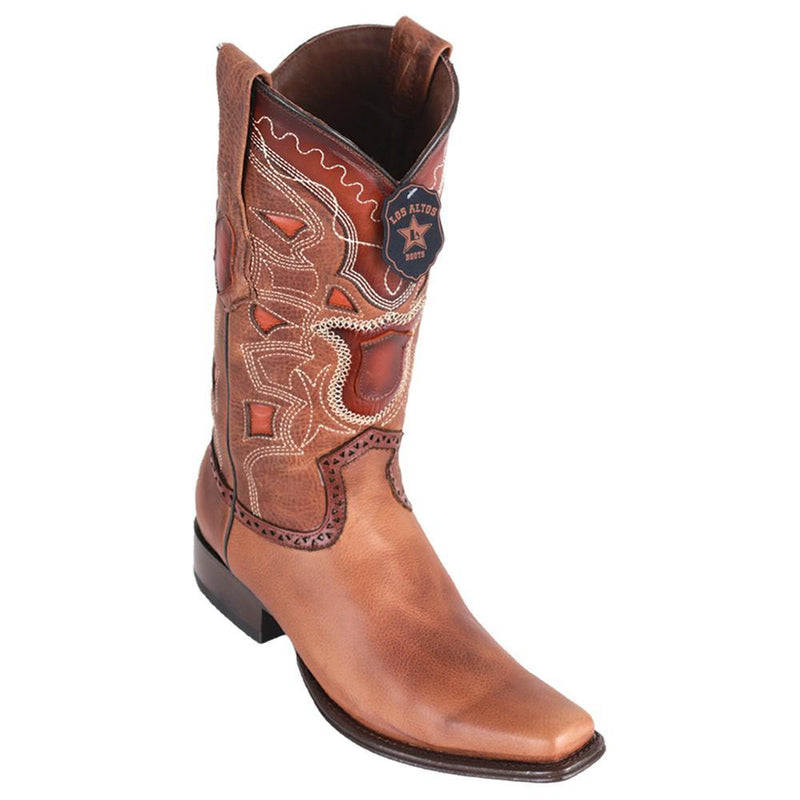 Los Altos Boots Mens #769951 European Square Toe | Genuine Rage Leather Boots | Color Honey