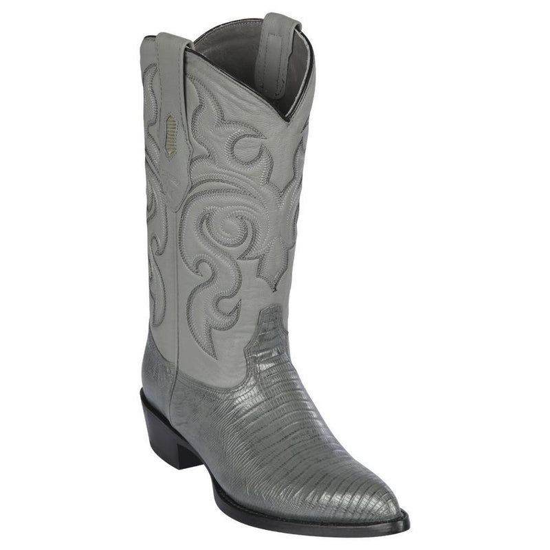Los Altos Boots Mens #990709 J Toe | Genuine Teju Lizard Boots | Color Gray