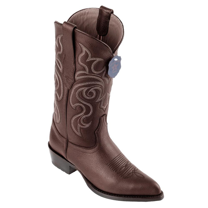 Los Altos Boots Mens #992707 J Toe | Genuine Grisly Leather Boots | Color Brown