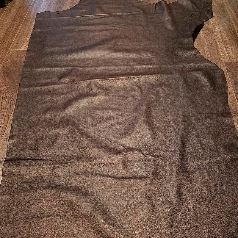 Black Elite Naked Cow Hide Large Leather Skins 20-23 SQ.FT. 2.5 OZ.