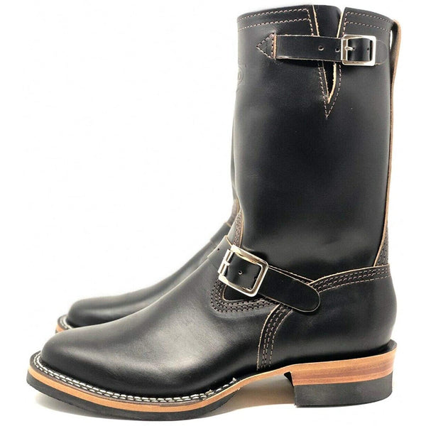 "Wesco Boots Men's  "" Mister  Lou ""   7600BK (Color Black ) Black Horsehide Leather"