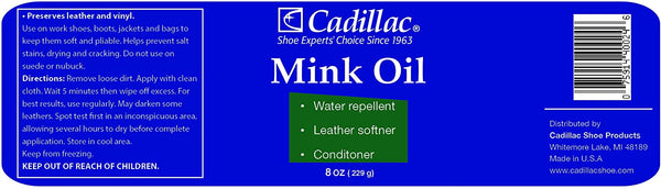 Cadillac | Mink Oil for Leather Boots Shoes
