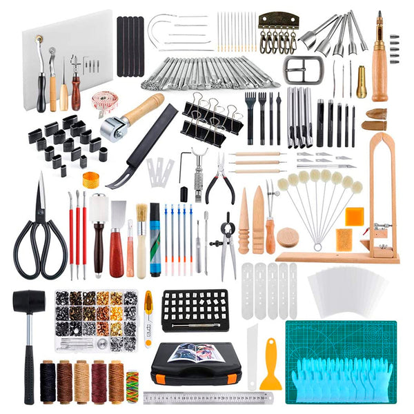 509 Pieces Leather Working Tool Set with an Instructions.