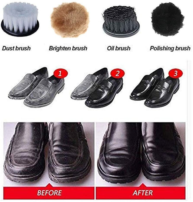 Electric Shoe Polisher, Viiwuu Upgrade Shine Kit Polisher