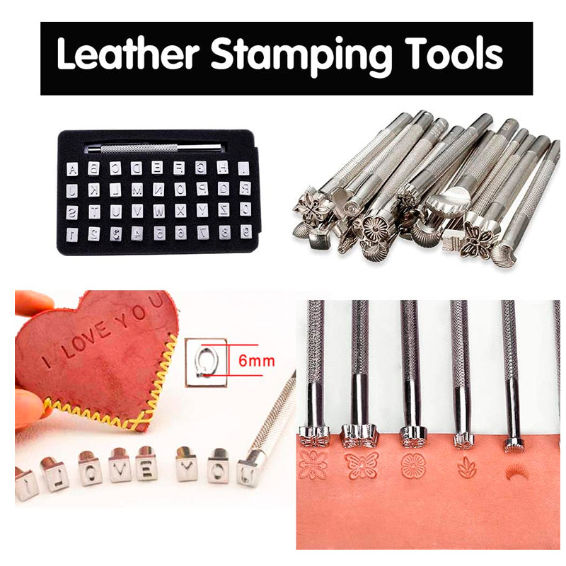 424 Pieces Leather Working Tools and Supplies