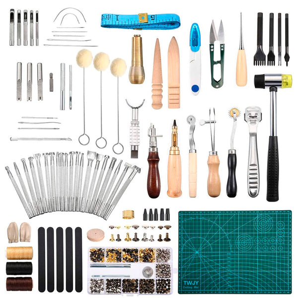 298 Pieces Leather Working Tools and Supplies