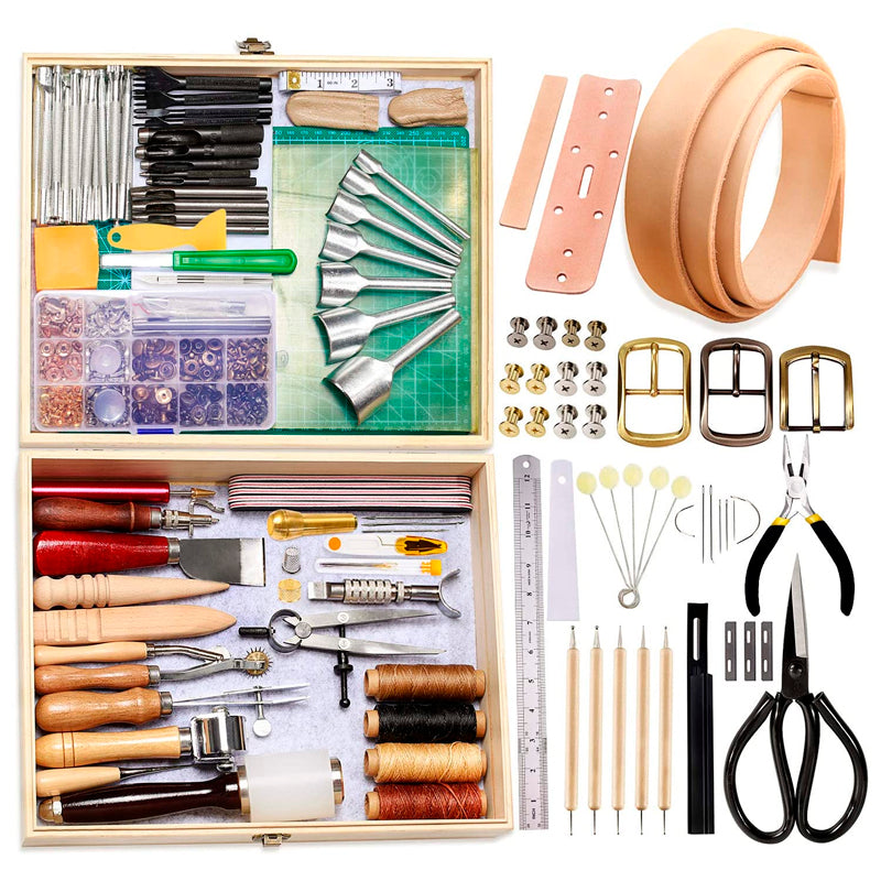 489Pcs Leather Working Tools Kit with Instructions