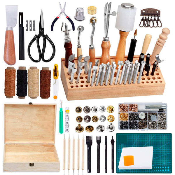 458 Pieces Leather Kits, Leather Working Tools