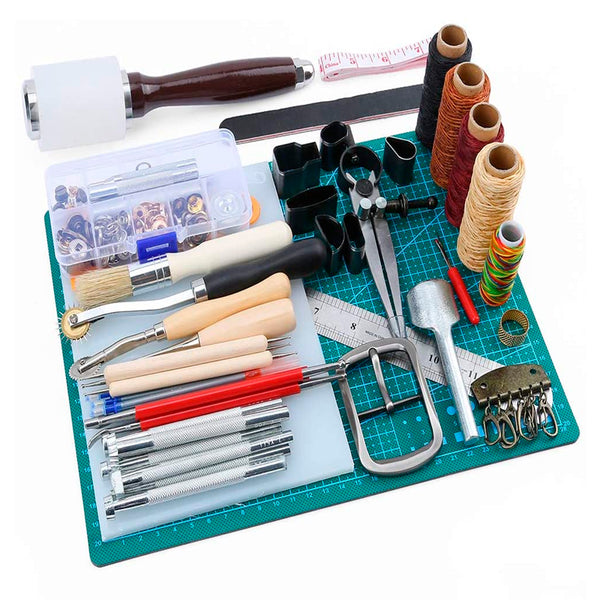 Leather Working Kit with Professional Instructions for Beginners