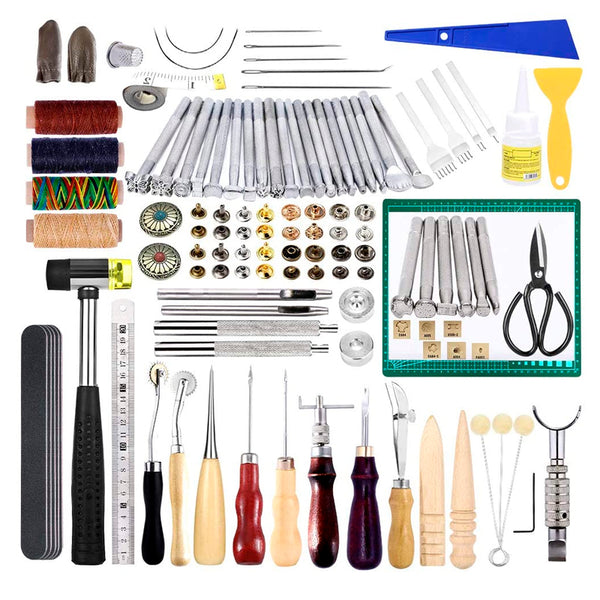 Leather Working Tools, Leather Kit with Instruction.