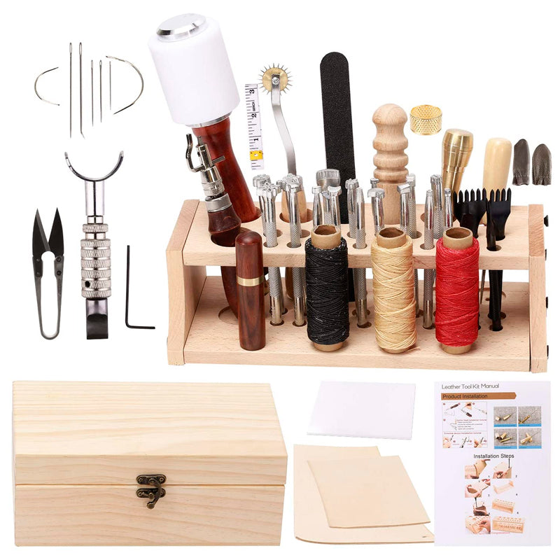 Leathercraft Hand Tools Kit with Instructions.