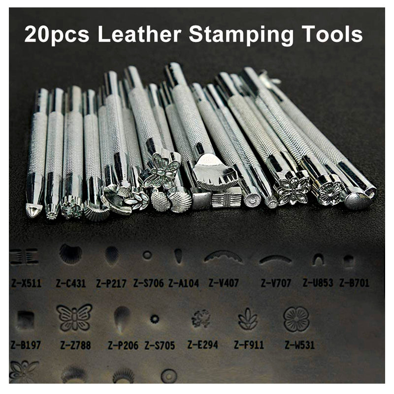 150 Pieces Leather Work Tools, Leathercraft Tools and Supplies with Leather Stamping Tools Leather Groover