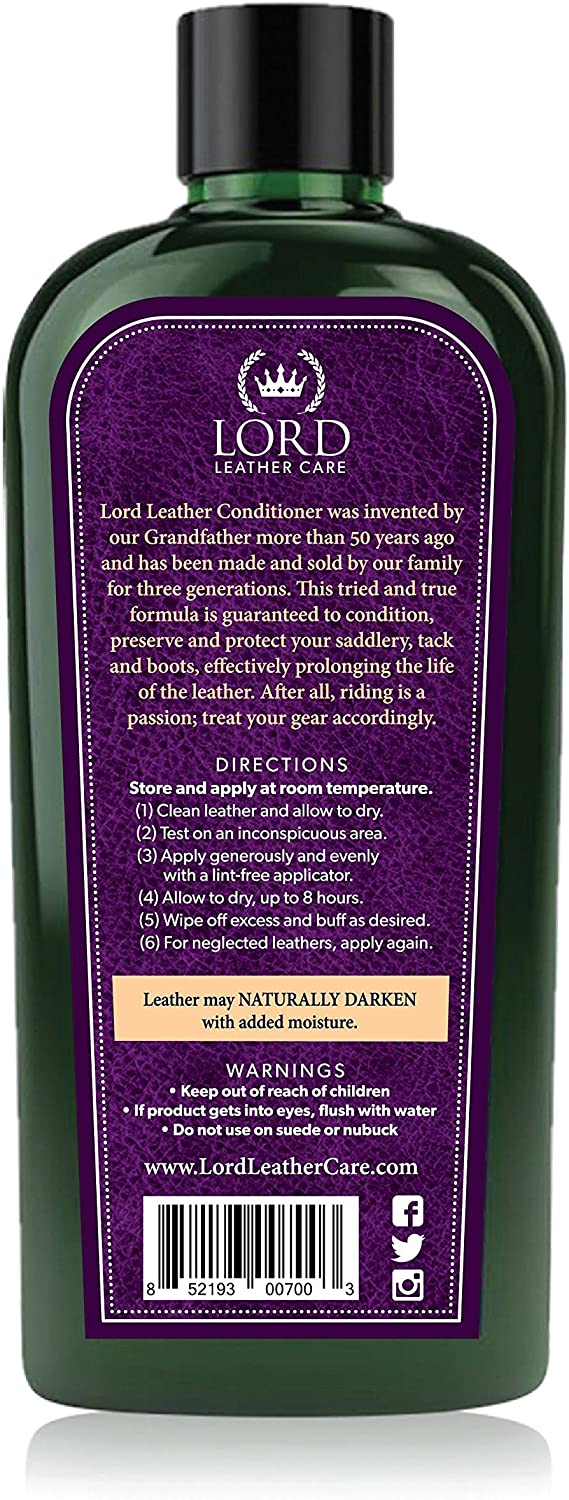 Lord Leather Care | Conditioner for Tack & Boots | Leather Softener