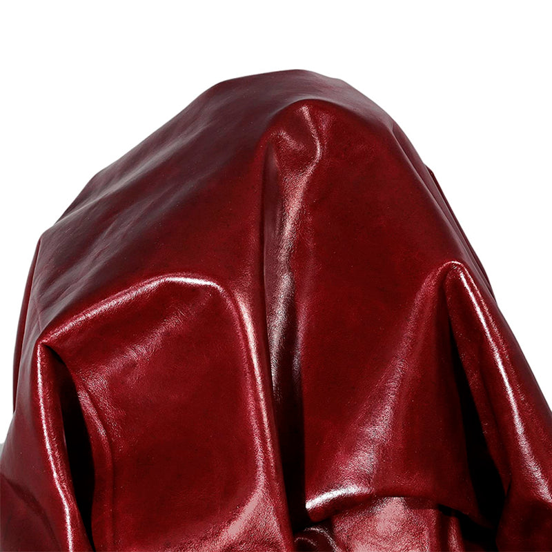 Burgundy (Dark Red) 16 to 18 Square Feet Garment Upholstery Tooling Craft Glazed Cowhide Cow Hide Genuine Leather Skin Thin 0.8 mm 1.5-2.0 oz.