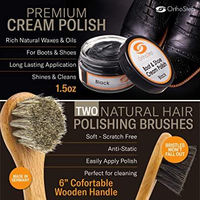 OrthoStep | 7pc Full Leather Shoe Polish Kit