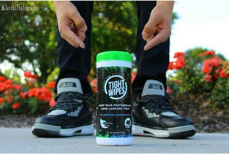 Tight Wipes Sneaker Shoe Cleaner Wipes for all Sneakers and Shoes (40 Wipes)