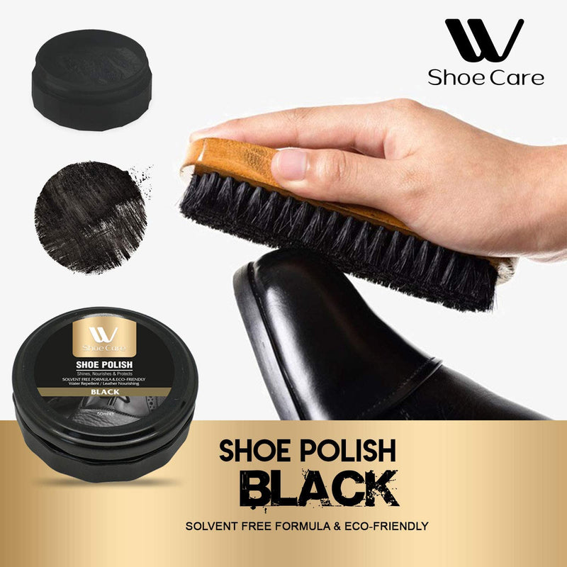 WBM LLC W Care Polish Kit | Black Cleaning and Shoe Shining Sponge For Leather