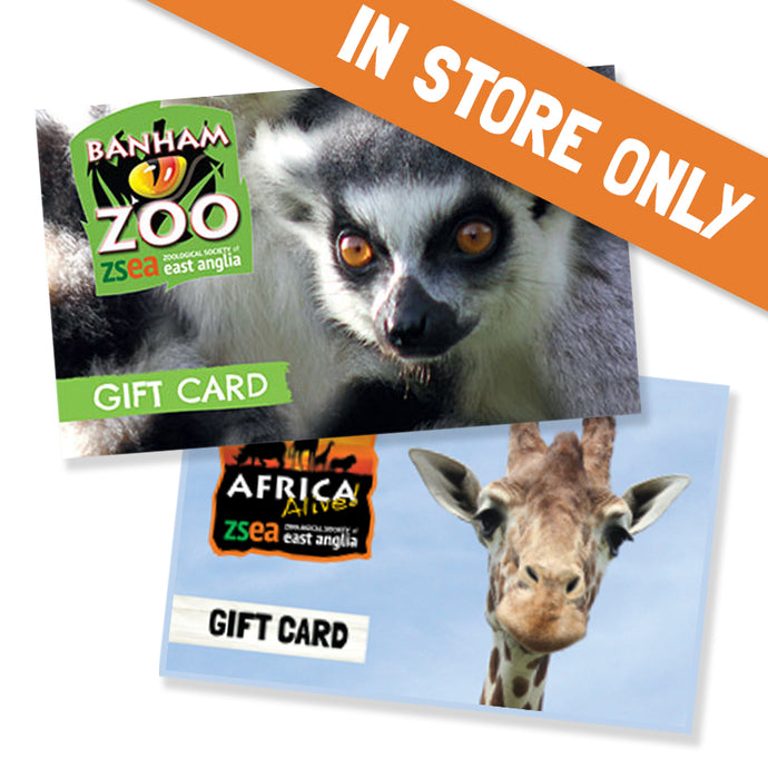 ZSEA Gift Card (For Use in Zoo Only)