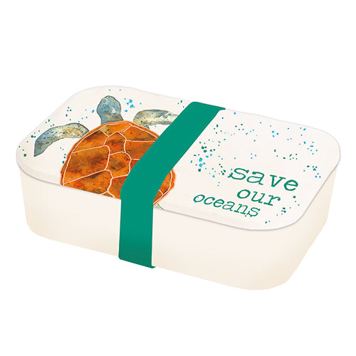 Milly Green Turtle Bamboo Lunch Box