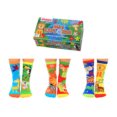 United Odd Socks Mini Explorer Kids, 3 Pairs