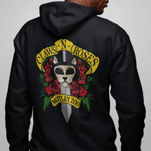 Load image into Gallery viewer, Claws 'N' Roses Men's/ Unisex Zip Front Hoodie