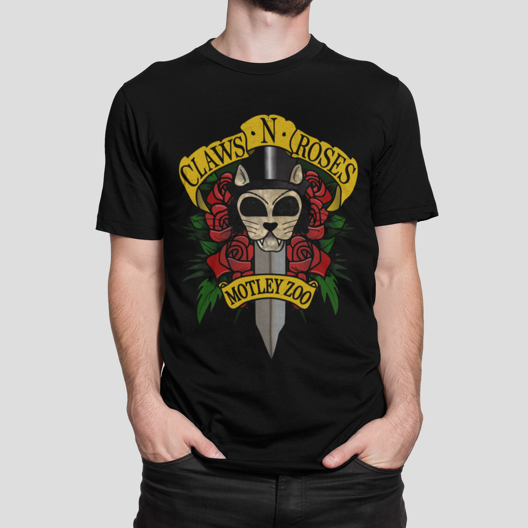 Claws 'N' Roses Men's/Unisex or Women's T-Shirt