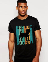 Load image into Gallery viewer, Rescue Rocks Vintage- Big Dog (with or without heart) Men's Unisex/ Women's Tshirt