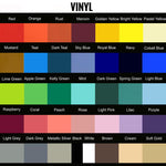 One name - each letter different color vinyl