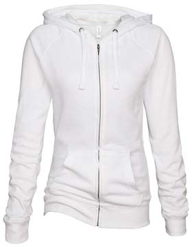 Ladies Zip-up Hoodie Sweatshirts