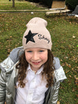 Star kids winter slouch Hat