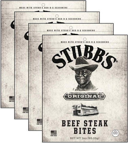 Stubbs®Steak Bites (4-Pack) - Red Truck Jerky