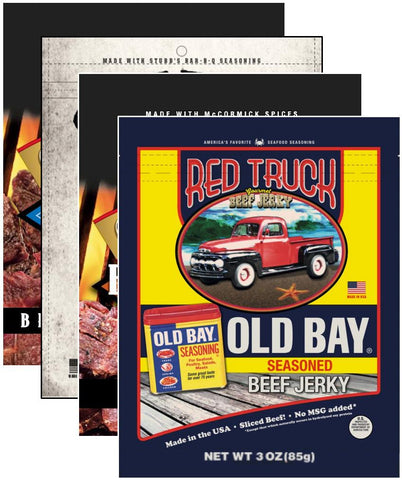 Legendary Beef Jerky Bundle (4-Pack) Beef Jerky Red Truck